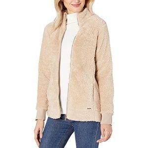 🌸 BOGO Calvin Klein Cream Faux Fur Zip-Up Jacket